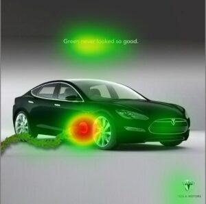 Айтрекинг-анализ рекламы Tesla